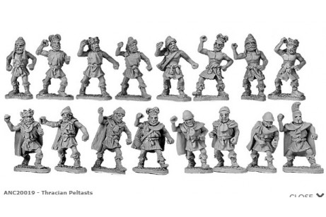 Thracian peltasts (random 8 of 17 designs)