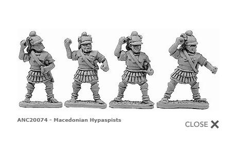 Macedonian Hypaspists (random 8 of 4 designs)