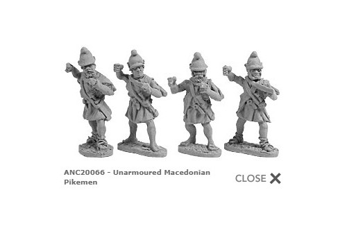 Unarmoured Macedonian Pikemen (random 8 of 4 designs)