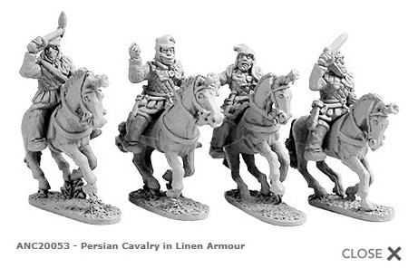 Persian Cavalry in Linen Armour (random 8 of 4 designs)
