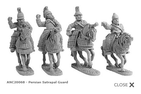 Persian Satrapal Guard (random 4 of 4 designs)