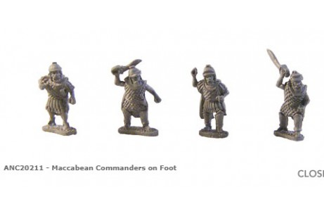 Maccabean Commanders on Foot