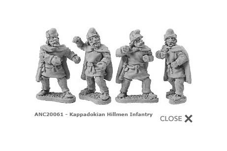 Kappadokian Hillmen Infantry (random 8 of 4 designs)