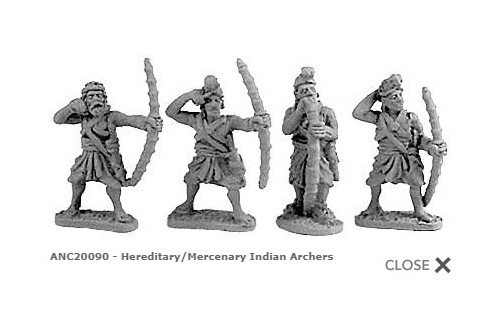 Hereditary/Mercenary Indian Archers (Random 8 of 4 designs)