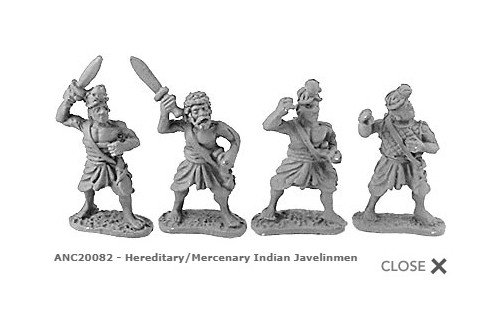 Hereditary/Mercenary Indian Javelinmen (random 8 of 4 designs)