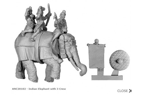 Indian Elephant w/4 crew (4 variants)