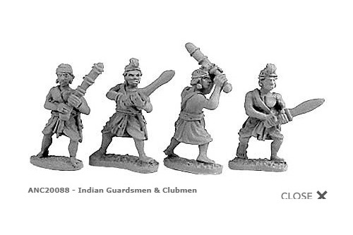 Indian Guardsmen & Clubmen (Random 4 of 4 designs)