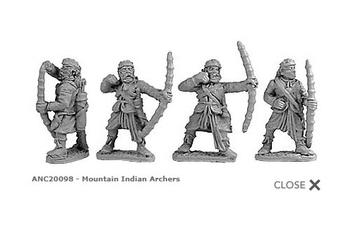 Mountain Indian Archers (random 8 of 4 designs)