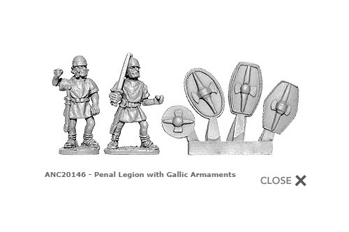 Penal Legion wtih Gallic armaments