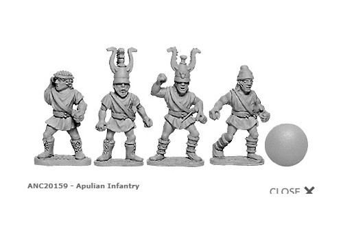 Apulian Infantry (random 8 of 4 designs)