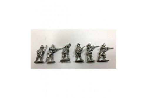 Arquebusiers Firing & loading 2.  (6 different figures)