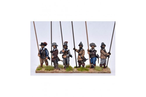 Pikemen, vertical pike (6 different figures not including pikes)